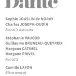 Communication du cabinet d'avocats DANTE-1 mai 2020