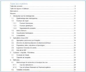 Androcur et Méningiome - Etude de Pharmacovigilance-ANSM